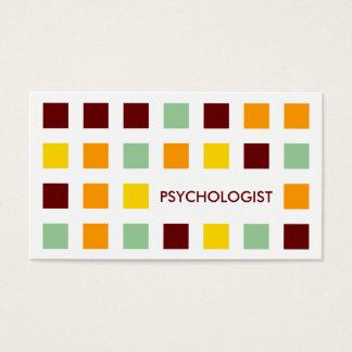 PSYCHOLOGIST (mod squares) Business Card