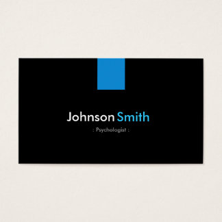 Psychologist Modern Aqua Blue Business Card