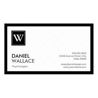 Psychologist - Modern Grid Monogram Business Card