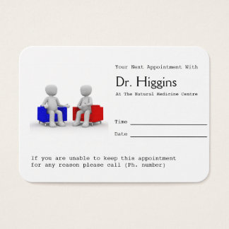 Psychologist or Counselling Appointment Reminder Business Card
