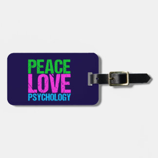Psychologist Peace Love Psychology Luggage Tag
