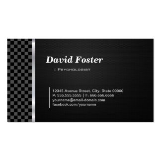 Psychologist Professional Black White Business Card
