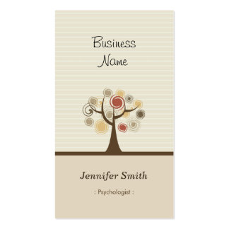 Psychologist - Stylish Natural Theme Pack Of Standard Business Cards