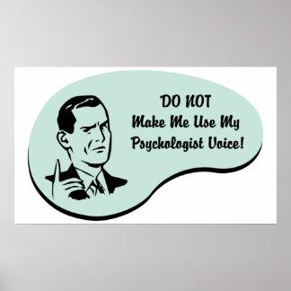 Psychologist Voice Poster