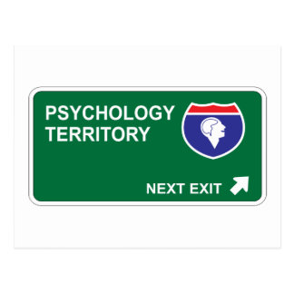 Psychology Next Exit Postcard