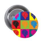 Psychology Pop Art Pins
