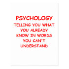 psychology postcard