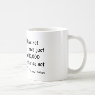 """Psychology Quote  """"I have not failed..."""" Coffee Mug"""