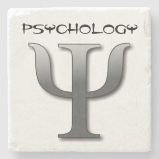 Psychology Symbol Stone Coaster