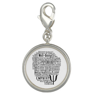 PSYCHOLOGY Word Cloud charms & bracelets