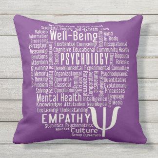 PSYCHOLOGY Word Cloud custom color throw pillow