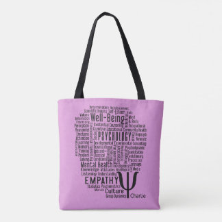 PSYCHOLOGY Word Cloud custom name bags