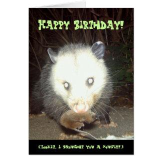 Psychopossum Birthday Card