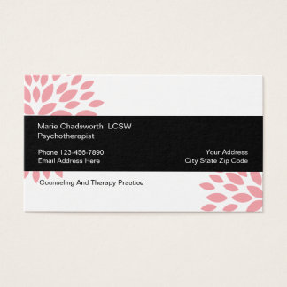 Psychotherapist Counseling Design Business Card