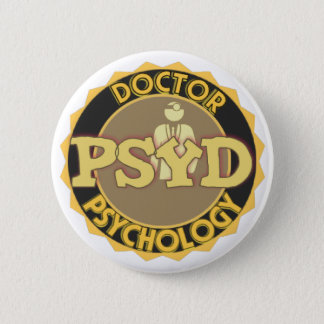 PsyD LOGO - DOCTOR OF PSYCHOLOGY 2 Inch Round Button