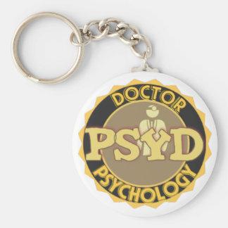 PsyD LOGO - DOCTOR OF PSYCHOLOGY Keychain