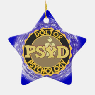 PsyD LOGO DOCTOR OF PSYCHOLOGY PSYCHOLOGIST Ceramic Ornament