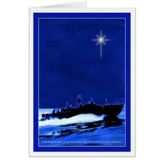 PT Boat ChristmasCard 1 Card