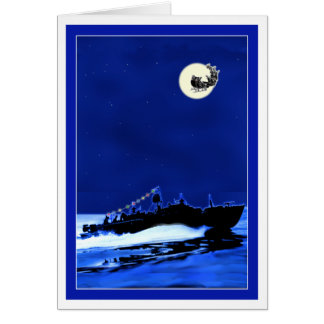PT Boat ChristmasCard 4 Card