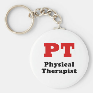 PT Physical Therapist Basic Round Button Keychain