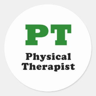 PT Physical Therapist Round Sticker