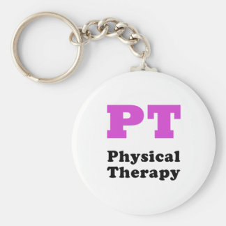 PT Physical Therapy Basic Round Button Keychain