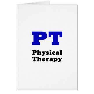 PT Physical Therapy Card