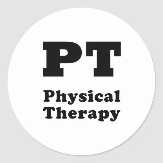 PT Physical Therapy Round Sticker