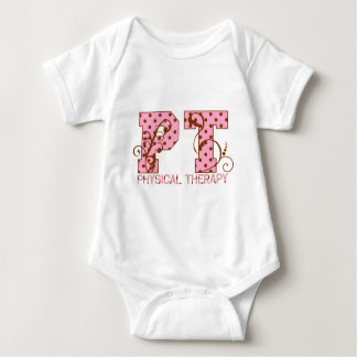 pt pink and brown polka dots baby bodysuit