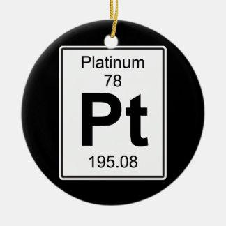 Pt - Platinum Ceramic Ornament