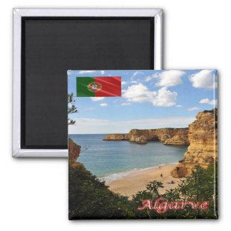 PT - Portugal - Algarve - Beach Marinha Square Magnet