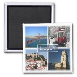 PT * Portugal - Lisbon Portugal Square Magnet