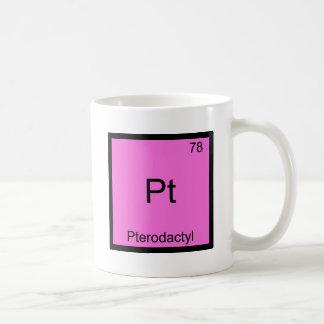 Pt - Pterodactyl Funny Chemistry Element Symbol Coffee Mug