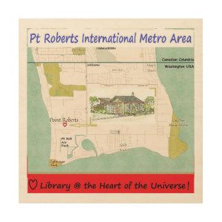 Pt Roberts Library FundRaiser wood art