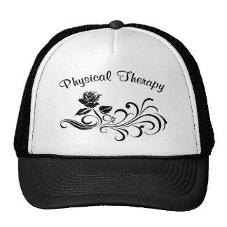 pt rose scroll black trucker hat