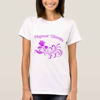 pt rose scroll purple T-Shirt