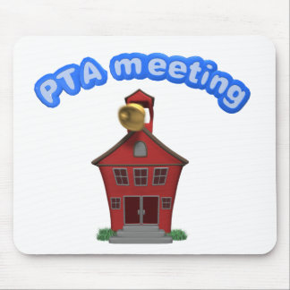 PTA Meeting School Building Parent Teacher Assoc Mouse Pad