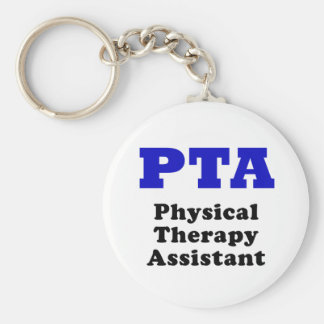 PTA Physical Therapy Assistant Basic Round Button Keychain
