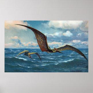 Pteranodon Antique Print