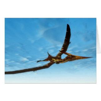 Pteranodon bird flying - 3D render Card