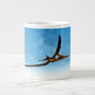 Pteranodon bird flying - 3D render Large Coffee Mug