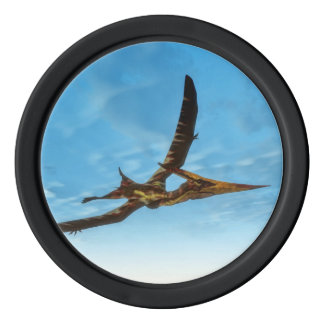 Pteranodon bird flying - 3D render Poker Chip Set
