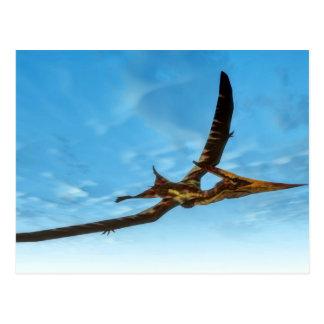 Pteranodon bird flying - 3D render Postcard
