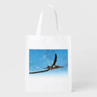 Pteranodon bird flying - 3D render Reusable Grocery Bag