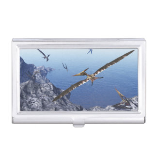 Pteranodon birds - 3D render Business Card Holder