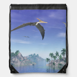 Pteranodon birds  - 3D render Drawstring Bag