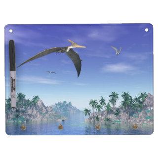 Pteranodon birds  - 3D render Dry Erase Board With Keychain Holder