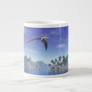 Pteranodon birds  - 3D render Large Coffee Mug