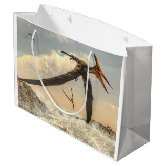 Pteranodon birds - 3D render Large Gift Bag
