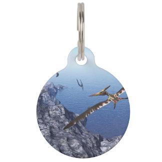 Pteranodon birds - 3D render Pet Name Tag
